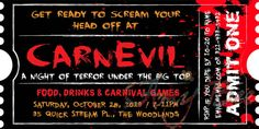 Halloween CarnEvil / Carnival Invitation by AmyBeeCreations