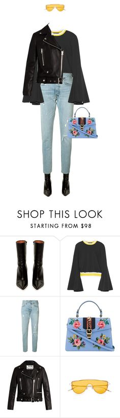 """""""Untitled #56"""" by explorer-14148396987 on Polyvore featuring Vetements, E L L E R Y, Levi's, Gucci and Acne Studios"""