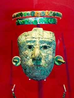A famous jade mask for an emperor of the Aztecs.