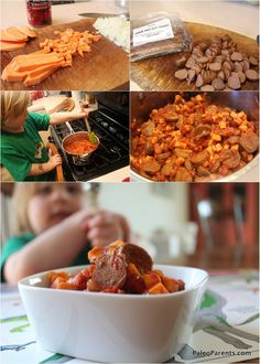 Not Beanie Weenies from Paleo Parents. Sounds weird, tastes awesome! Add a few tablespoons of maple syrup for more faux-baked bean-y goodness.