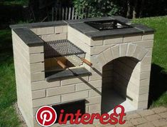 """Outstanding """"built in grill diy"""" info is offered on our website. Fire Pit Backyard, Backyard Bbq, Brick Grill, Outdoor Oven, Design Jardin, Built In Grill, Backyard Patio Designs, Patio Ideas, Pergola Ideas"""