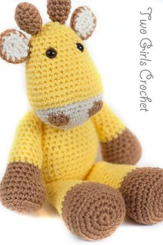 Crochet Giraffe Amigurumi Toy Amarillo  Made to by TwoGirlsCrochet, $26.50