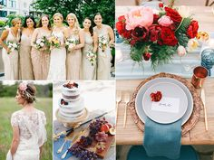 Hot Wedding Trends for 2017   Photo by: Clockwise from left: Pen/Carlson; Brandon Kidd; Wendy Laurel; The Nichols   TheKnot.com