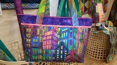 Love this fabric. Hoffman Skylines N4234-130 Multi