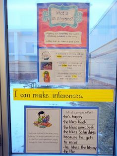 Good way to explain to kids what inference is. (links to snow day inferencing activity) Reading Activities, Reading Skills, Teaching Reading, Teaching Ideas, Inference Activities, Guided Reading, Reading Logs, Reading Response, Teaching
