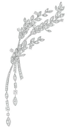 Premiers Brins #Brooch from #LesBlesDeChanel - #Chanel - #FineJewelry collection in 18K white gold set with 227 #BrilliantCut - #Diamonds (4.5 cts) - July 2016 ---