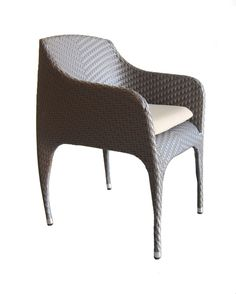100Essentials Rivage Dining Armchair, Taupe. Powder coated aluminum frames are strong and resist corrosion, Woven entirely by hand. Seat Cushions are made with high density foam; The cushion is soft, comfortable, permeable and breathable, washable. Taupe Color. Sun proof 180 Sand. Virtually maintenance free; For regular maintenance simply wash the product with soap and water.