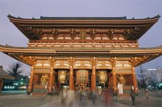 Built in 645 AD, the Asakusa Kannon Temple is the oldest temple in Tokyo.