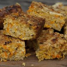 Carrot flapjack. These very easy savoury flapjacks are good to make with children – and excellent snacks or lunchbox fillers. Add in some sesame or pumpkin seeds, or a little grated apple for sweetness. There are few better uses for the last couple of carrots in your veg box.