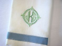 Special Monogramming - Savanna by Grace Hayes from Grace Hayes Linens