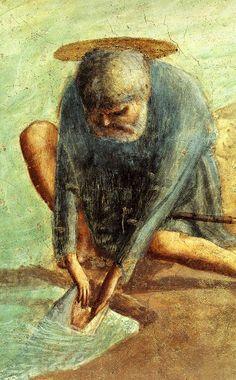Masaccio - Le paiement du tribut -Chapelle Brancacci, église Santa Maria del Carmine (Florence), (1424-1428)