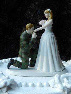 US Army MILITARY soldier prince wedding cake by ColoradoCarla