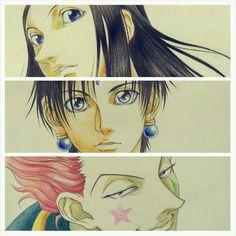 Illumi, Chrollo, and Hisoka by Hunter x Hunter (2011) Animation Director, Abiru Takahiko (mountful) on Twitter