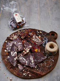 homemade chocolate bark via Jamie Oliver