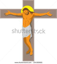 vector illustration of jesus christ hanging on cross crucified done in art deco retro style on isolated white background. Retro Illustration, Halloween Art, Retro Style, Royalty Free Images, Jesus Christ, Retro Fashion, Disney Characters, Fictional Characters, Art Deco