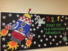 welcome to school bulletin board pics – Bing images - Education & Career Rocket Bulletin Boards, Space Bulletin Boards, Welcome Bulletin Boards, Kindergarten Bulletin Boards, Reading Bulletin Boards, Back To School Bulletin Boards, Welcome Back Boards, Space Theme Classroom, Classroom Bulletin Boards