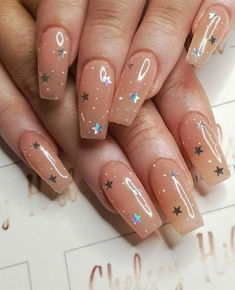 Nails aesthetic chelsey Hibbert Nails Artist on GLOWING the_manicure_company Insp. chelsey Hibbert Nails Artist auf GLOWING the_manicure_company Inspiriert von NAF! Salon Kunst / a Best Acrylic Nails, Acrylic Nail Art, Acrylic Nail Designs, Star Nail Designs, Simple Acrylic Nails, Simple Nail Designs, Best Nail Designs, Acrylic Nails For Summer, Colored Acrylic Nails