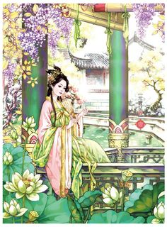 Cute Images, Wonderful Images, Princess Coloring, China Art, Creative Pictures, Chinese Culture, Chinese Painting, Portrait Art, Great Artists