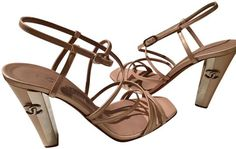 3d00722db77d Chanel Nude Strappy Heels Stiletto Cc Logo Sandals Size EU 37 (Approx. US 7