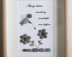 Pebble Art framed Picture- Fairy - Believe