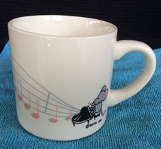 Vintage Guhl  PianoPlaying Mouse Mug Cup Music Collector 1983 Bevy England Gift  #Guhl1983
