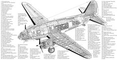 Curtiss C-46 cutaway Plane Drawing, Aviation World, Flying Boat, Metal Birds, Aircraft Design, Cutaway, Military Aircraft, Wwii, Fighter Jets