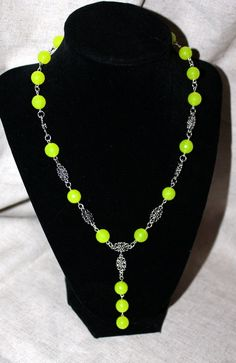 Handmade Peridot Drop Necklace silver by LINDABJEWELRYDESIGNS, $30.00