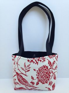 Small Purse Bag in Red and Black by 1treeyoga on Etsy