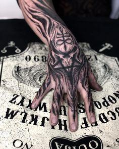 Full Hand Tattoo, Skeleton Hand Tattoo, Hand Tattoos For Guys, Neck Tattoo For Guys, Black Tattoo Cover Up, Cover Up Tattoos, Body Art Tattoos, Cool Tattoos, Tattoo Sleeve Designs