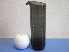 Modernist art glass pitcher smoke-coloured era Franck mid-century design 60s