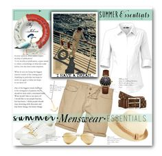 """""""Summer Menswear Essentials"""" by jelenalazarevicpo ❤ liked on Polyvore featuring BUSCEMI, The North Face, River Island, BP., Ray-Ban, Vivienne Westwood, MIANSAI, men's fashion, menswear and summermenswearessentials"""
