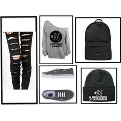 5sos by bethany-robison on Polyvore featuring Vans and Givenchy