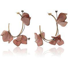 Marni Flower Hoop Earrings