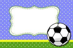 Moldura Convite e Cartão Futebol (Bola de Fubebol): Soccer Birthday, Soccer Party, Free Birthday, Sports Day Decoration, School Labels, Valentine Activities, Tent Cards, Printable Tags, Kids Cards