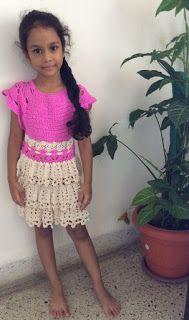 Sweet Nothings Crochet: CHANDRA'S FRILLED DRESS