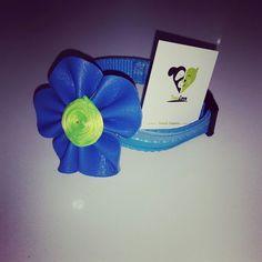 Flor azul eléctrico