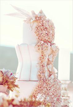 fancy fancy marie Antoinette themed wedding cake