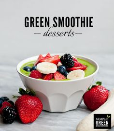 Green smoothie bowl anyone? Yum!