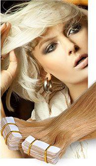Tape Ins sind die haltbarsten Haarverlängerungen, die erhältlich sind. Bei dieser Methode muss kein Kleber auf die Kopfhaut angewendet werden. Kein flechten, keine Clip ins, keine Verbindungsstücke, keine Chemikalien oder chaotisches Entfernen... Diese Technik ist vollkommen nahtlos ohne Huckel. Du kannst dein Haar tragen, wie es dir gefällt.  http://www.hairextensionsale.de/tape-in-hair-extensions