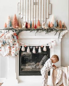 For Christmas decorations, the most important part is your fireplace mantel. Listed below are 80 Best Christmas mantel decor ideas for you. Without delay let us check out these Christmas Fire Place Decors that will surely get you inspired. Merry Little Christmas, Christmas Love, Christmas Holidays, Whimsical Christmas, Xmas, Victorian Christmas, Christmas Trees, Vintage Christmas, Christmas Ornaments