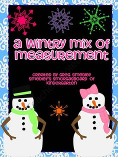 A Wintry Mix of Measurement!  A Common Core Aligned Math Unit! product from Kindergarten-Smorgasboard on TeachersNotebook.com