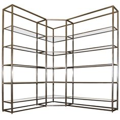 1stdibs | Beautiful 1970's Angle Shelves by Jansen