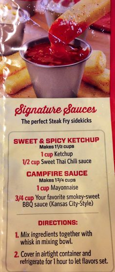 Red Robin - Sweet & Spicy Ketchup and Campfire Sauce recipes