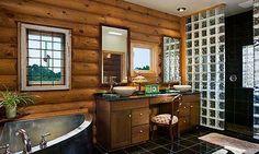 decoração casa rústica banheiro