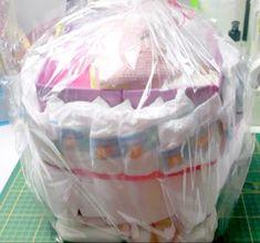 diaper cake / baby hamper