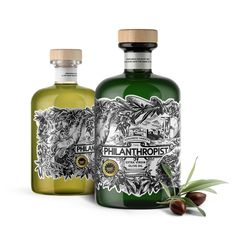 This Olive Oil Tells a Story with a Beautifully Detailed Label Skincare Packaging, Beauty Packaging, Brand Packaging, Olives, Olive Oil Packaging, Cold Pressed Oil, Olive Oil Bottles, Label Design, Branding Design