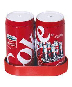 Another great find on #zulily! Coca-Cola Salt & Pepper Caddy Set #zulilyfinds