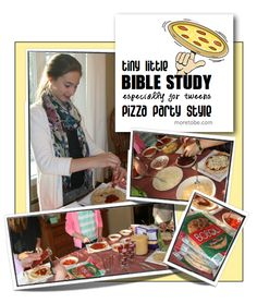 Tween Bible Study: Pizza Party Style: My friend @Elisa Pulliam has the coolest resource here!