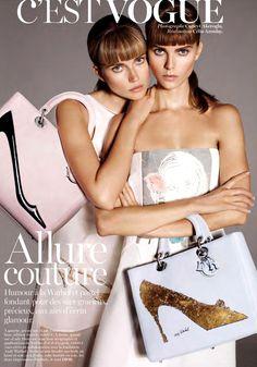Maryna Linchuk & Cato van Ee by Cuneyt Akeroglu for Vogue Paris N