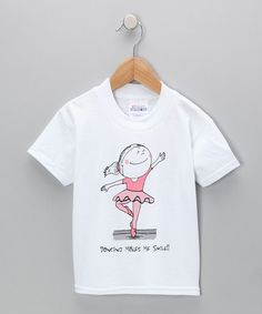 Take a look at this White Ballerina Tee - Toddler & Girls by Dance World Bazaar on #zulily today!